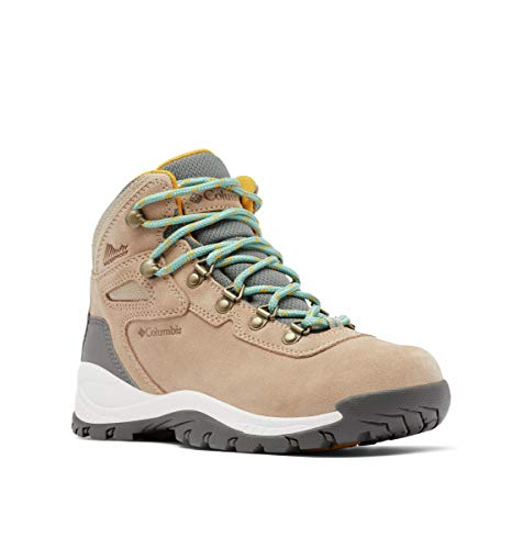 Columbia womens Newton Ridge Plus Waterproof Amped Boot Hiking Shoe, Oxford Tan/Dusty Green, 10 Wide US