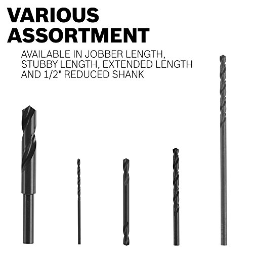 BOSCH BL2739 3/16 In. x 12 In. Extra Length Aircraft Black Oxide Drill Bit