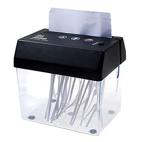 DSMGLRBGZ Desfibradora, Mini Trituradora Eléctrico Batería USB Portátil Papel Archivar Biotrituradora para...