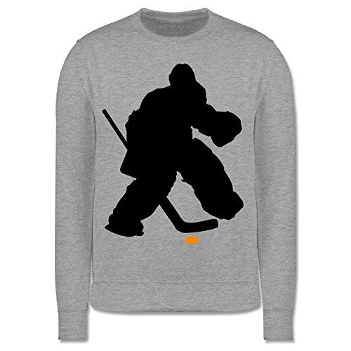 Sport Kind - Eishockeytorwart Towart Eishockey - 116 (5/6 Jahre) - Grau meliert - Eishockey Trikot - JH030K - Kinder Pullover