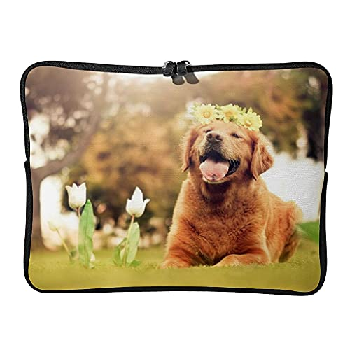 Bolso diario para ordenador portátil Golden Retriever, resistente al agua, para los amantes de las mascotas, adecuado para exteriores