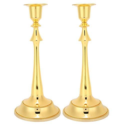 keyren Zinc Alloy Candelabra, Decoration Innovative Candlestick, for Home Dinning Wedding Party Supplise(Golden)