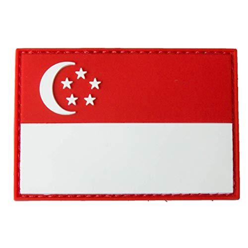 TACOPSGEAR Singapur Singapore Flag Flaggen Patch - RED/White