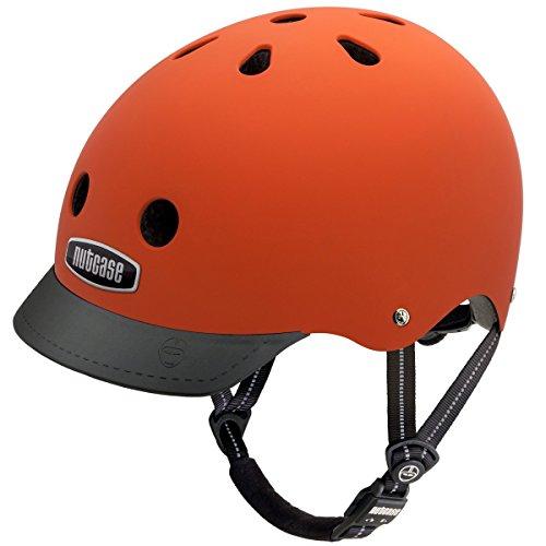 Nutcase Gemusterter Street Bike für Erwachsene, Orange (Dutch Orange), M (56-60 cm)