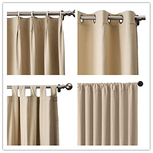 TWOPAGES Liz Linen Blackout Curtain Room Darkening Linen Curtains Drapery Panel for Living Room Bedroom Patio Door (Custom)