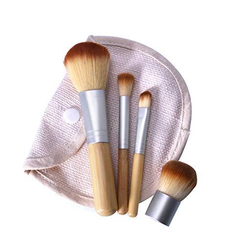 Momangel Professionnel 4pcs Set/Kit Ombre à paupières poudre fond de teint bambou cosmétique Pinceaux Maquillage Cosmétique Pinceaux