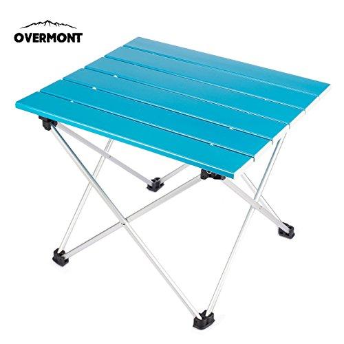 Overmont mesa tabla plegable portable de aluminio ultraligero para camping jardín senderismo...