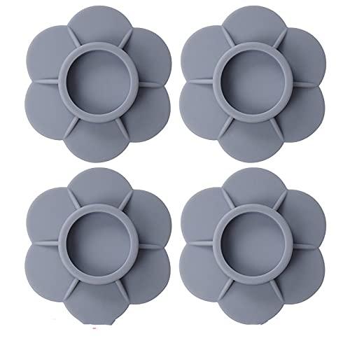 HFZY Base de lavadora para frigorífico, alfombrillas antideslizantes, alfombrillas elevadas, patas de goma resistentes al desgaste, alfombrillas a prueba de golpes, accesorios fijos para muebles, gris