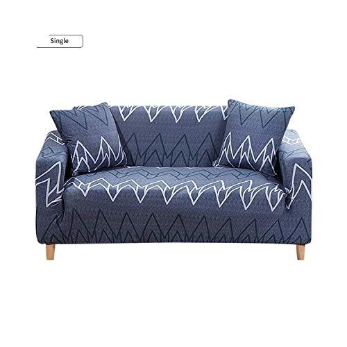 Funda de sofá universal de la cubierta del sofá de estilo geométrico elástico para la sala de estar en forma de L sofá elástico muebles de las fundas-verde-3 plazas 190-230 cm