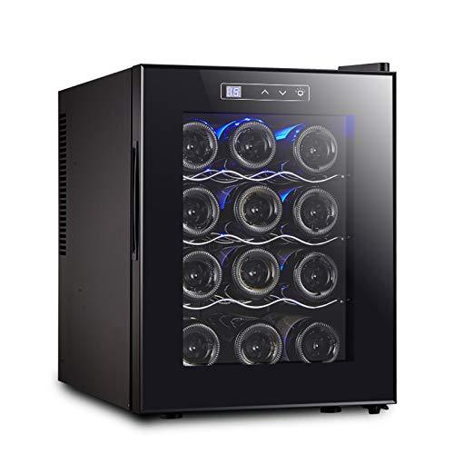LYYAN Bodega con Control de Temperatura, para Bebidas enlatadas, refrescos, Cerveza o Vino, pequeños refrigeradores y refrigeradores domésticos, mostradores de Barra de Oficina (Negro)