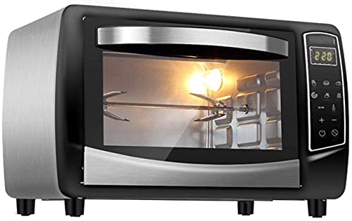 Electric oven, countertop, 30 convection oven-1500 watts, rotisserie electric oven with grill, double hot plate, toaster, bakeware,