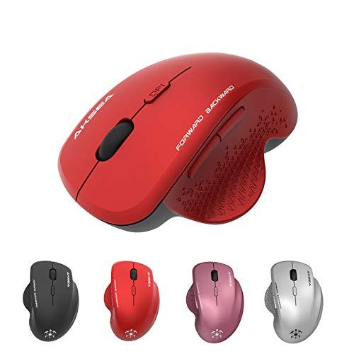 AKSEA Mouse Wireless, Mouse Senza Fili 2.4G con Ricevitore Nano, Ergonomico Mouse,...