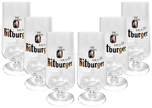 Bitburger Kelch Tulpen Glas Gläser-Set - 6x Biertulpen 0,3l geeicht