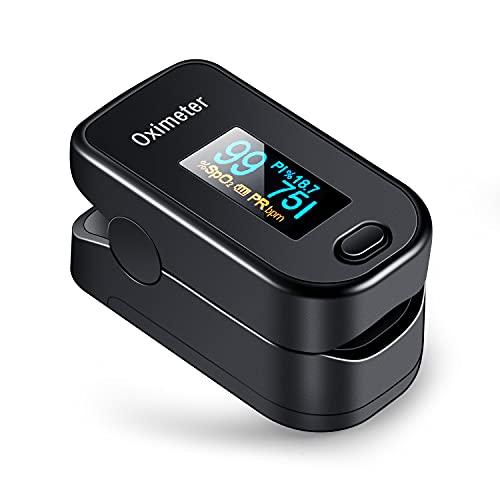 医療機器認証 パルスオキシメーター 血中酸素濃度計 spo2 脈拍測定器 アラーム設定機能付 心拍計 酸素飽和度 灌流指標 家庭用 クリップ式 五段明度調整 快速測定 360度画面切替 携帯便利