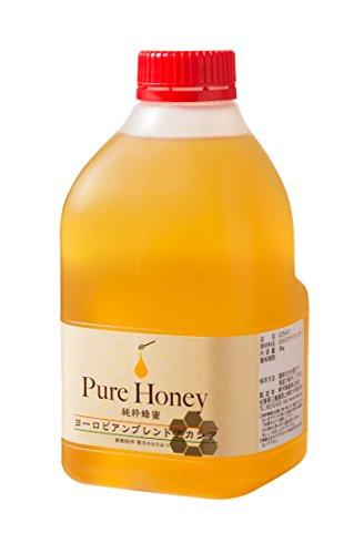 [熊手のはちみつ] ヨーロピアンアカシア はちみつ (ポリ 2kg) 100%純粋 ハチミツ 蜂蜜