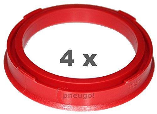 4 x pneugo! Bagues de centrage pour jantes alu 73.1 mm - 57.1 mm