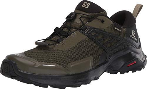 Salomon Herren Shoes X Raise GTX Trekkingschuhe, Schwarz (Weinblatt/Schwarz/Schwarz), 48 EU