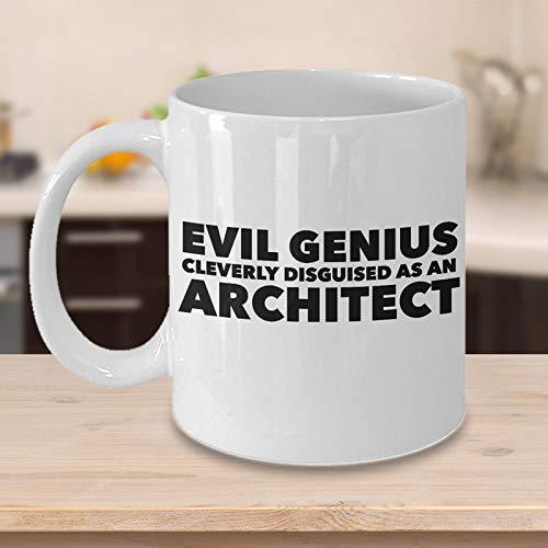 N\A Taza de caf Divertida del Arquitecto - Cita inteligentemente disfrazada del Genio Malvado en la Taza - Sarcasmo de Humor Lindo Fresco nico - Idea de Regalo para los diseadores del Artista