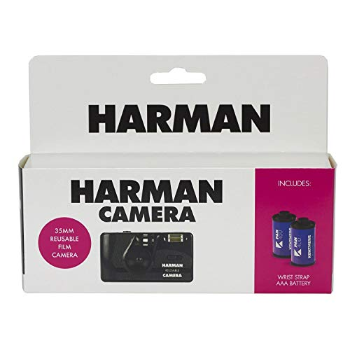 Harman Disposable/Rechargeable Camera + 2 Films N&B 36 Poses