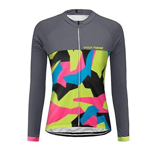 Uglyfrog 2018-2019 Damen Radfahren Jersey Frauen Mountainbike Jersey Shirts Lange Ärmel Rennrad Kleidung aus Tür Sport MTB Kleidung Sommer