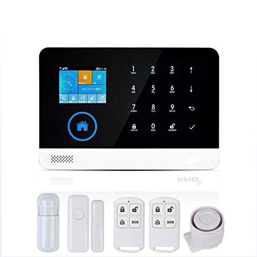 LUOYE WiFi Home Anti-Theft Alarm,Professional Wireless Home Alarm System Remote Control Intelligent for Kids Safety Home Shop Security