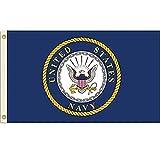 Home and Holiday Flags Bandiera degli Stati Uniti Navy USN Emblema US Militare Gagliardett...