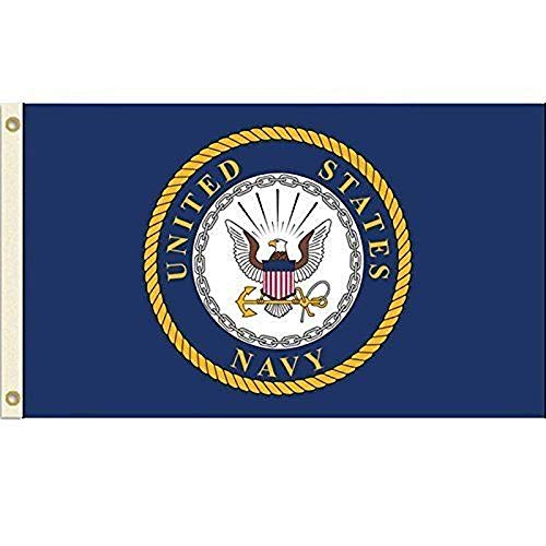 HOME AND HOLIDAY United States Navy Flag USN Emblem Banner US Military Pennant New 3x5