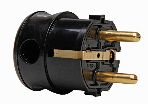 Kopp 178505000 Schutzkontakt-Winkelstecker schwarz