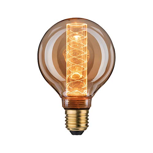 Paulmann 28602 LED Vintage Lampe G95 Inner Glow, 1879 Gold Edition, Ø95 mm, 4W, 200 lm, E27, Gold, mit Innenkolben Spiralmuster, Retro Leuchtmittel, Goldlicht 1800 K
