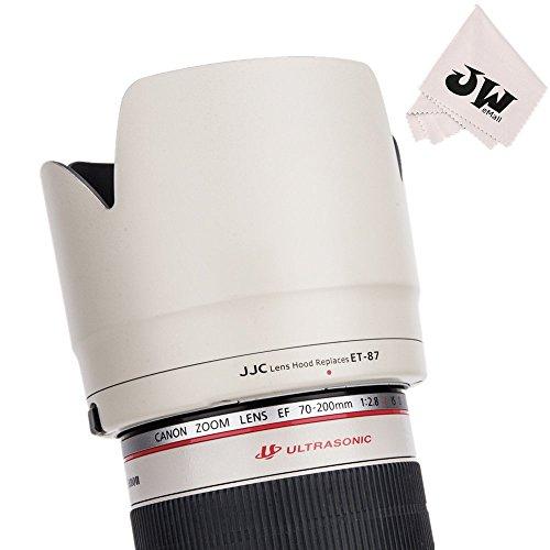 JJC レンズフード 白 花形 Canon EF 70-200 f2.8l IS II USM & Canon EF 70-200mm f2.8L IS III USM レンズ 用 ET-87 互換