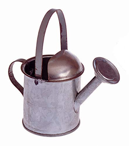 Darice 6595 Miniature Galvanized Metal, 3.5 inches Watering Can, Silver