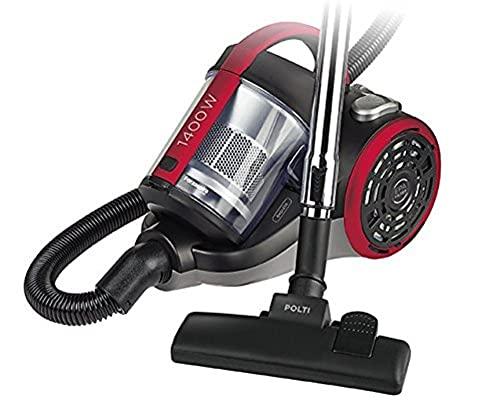 Polti Forzaspira C110_Plus Aspirador cicónico sin bolsa, 2 litros capacidad depósito de recogida, 80 Decibelios, Negro/Rojo