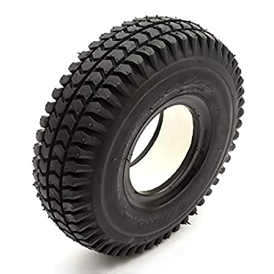 Solid PU Tyre 3.00-4 4 Inch Black Puncture Proof Fits Mobility Scooter Block Tread
