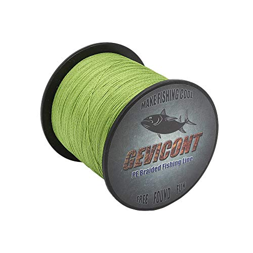 GEVICONT Braided Lines Thinner Smoother Stronger Heavy Duty Fishing line PE 8 Strands 2000m(2187yards) 10lbs-300lbs Multiple Colors for Sea Fishing