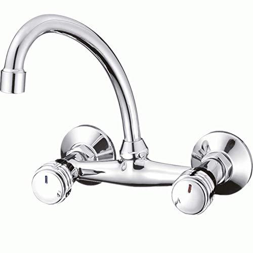 Mprofi MT® Wandarmatur Küchenarmatur Wasserhahn Küche Küchenspüle Spülbecken Chrom 7119