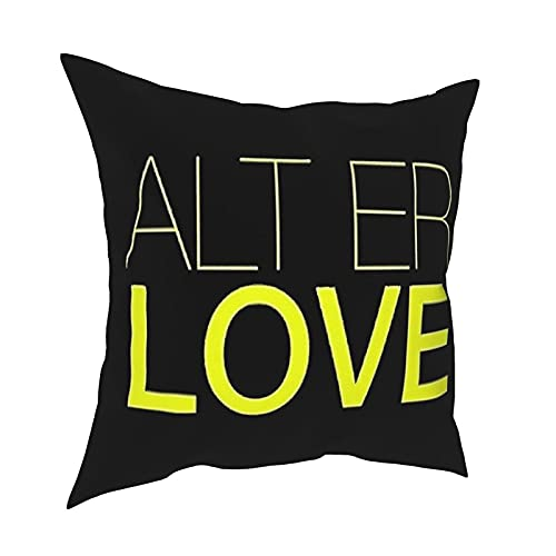 Jupsero Alt Er Love Skam Tapiz Funda de Almohada Moda Funda de Almohada Cuadrada decoración Funda de Almohada 18 X 18 Pulgadas 45 X 45 cm