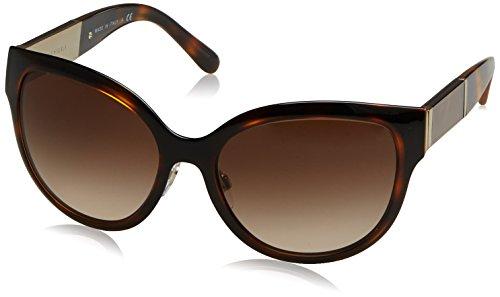 Burberry 0BE3087 121713 57 gafas de sol, Dorado (Light Gold/Browngradient), Mujer