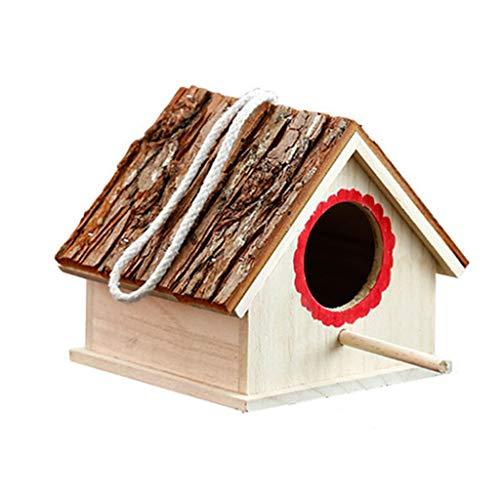 Zunruishop Cottages Vogelhuis Effen Hout Maken Vogelkooi Outdoor Decoratie Siervogel Nest Huisdier Vogelkooi Fokken Hatching Box Vogelhuisjes/Vogelnest