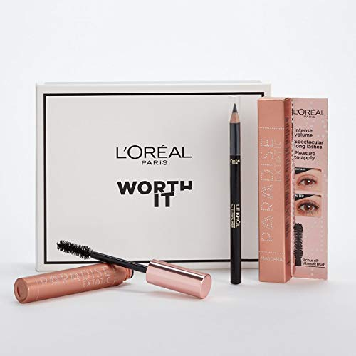 L'Oréal Paris MakeUp Pochette Occhi Edizione Limitata, Include Paradise Extatic Mascara Volumizzante e AlLungante e Matita Occhi Superliner Le Khol, Confezione da 2