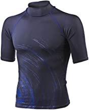 SubGear Mens Circle Short Sleeve Rash Guard - Black/Blue, Size SM