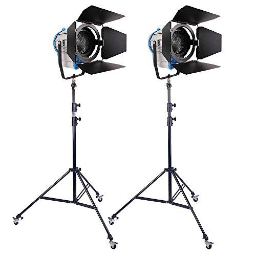 Kit 2X 2000W Fresnel de tungsteno halógena Foco Iluminación Bombilla Estudio Luz de vídeo