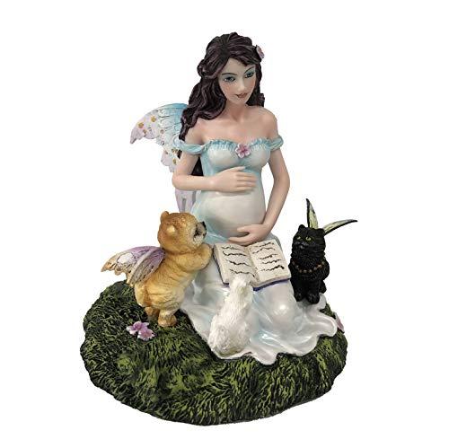 Les Alpes Orig. Fata Mothers Love con Animali, 15cm, Orig Magic Mama Collection - Figura Statuina Dipinta a Mano - 042 787
