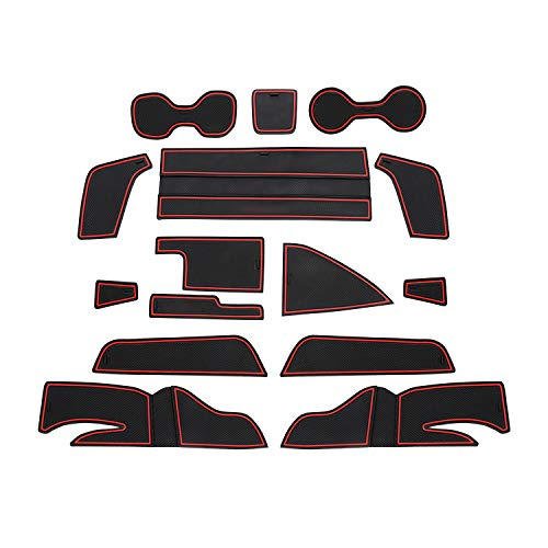 CDEFG para Opel Insignia Coche Accesorios Antideslizante Copa Mats Anti Slip Puerta Ranura de Acceso Kit de la Estera del cojín de la Ranura decoración de Interiores (Rojo)