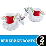 BigMouth Inc. Inflatable Magical Unicorn Floating Drink Holder, Cup Holder Floats, 2-Pack, Great for Pool Parties and Special Events