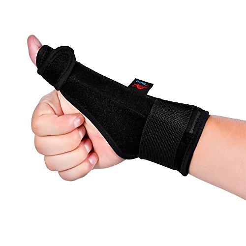 AOLIKES Férulas Dedos Muñeca Pulgar Tendón Estabilizador Correa Brace Apoyo Artritis Túnel Carpiano Dolor Esguince Derecho