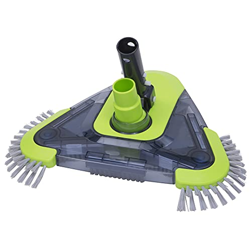 UrchinDJ Swimming Pool Triangle Vacuum Brush Head with Side Brush & Universal Rotatable Suction Nozzle