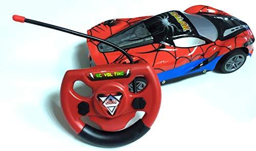 Dabuty Online, S.L. Coche teledirigido Spiderman. Juguete Control Remoto. Fácil Movimiento. Gran Velocidad. Coche Carrera Radio Control con Luces. Giro 360º. Coche eléctrico. RC Mando a Distancia