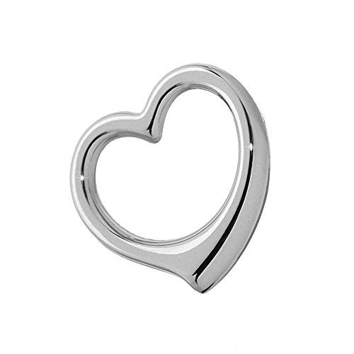 nklaus catene ciondolo a forma di cuore in argento Sterling 925rodiato 16,7X 16mm da donna ragazza 4769