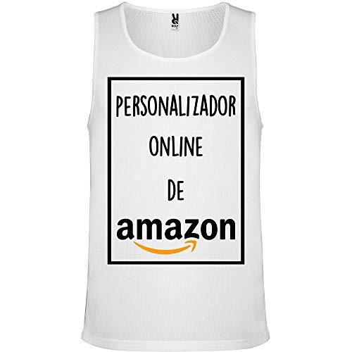 Camiseta de Tirantes Personalizada | Hombre | Transpirable | Verano 2020 | Deporte (Fitness, Crossfit, Running) (XL)