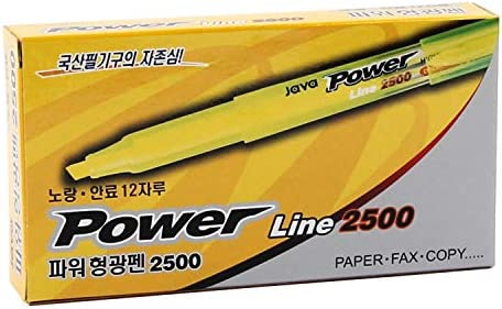 JAVAPEN rainbow pastel Highlighter brush Chisel Tip Pens (Smoke colors 6 pens set)
